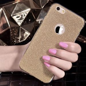 Accessories - Gold Glitter Soft iPhone Case Various Sizes